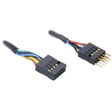 AKASA interní rozšíření USB 2.0 Male -> Female, délka 40cm (EXUSBI-40)