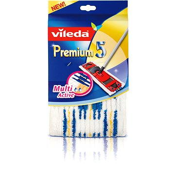 Vileda Premium 5 mop náhrada MultiActive + ZDARMA Hadřík VILEDA Actifibre 29x29 cm (1ks)