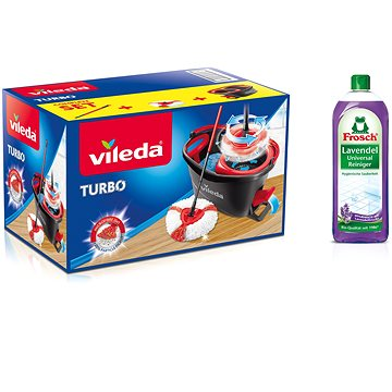 Mop VILEDA Easy Wring and Clean TURBO (4023103194113) + ZDARMA Hadřík VILEDA Actifibre 29x29 cm (1ks)