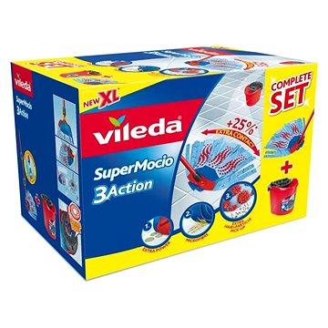 Mop VILEDA SuperMocio Completo 3 Action Box (4023103158344) + ZDARMA Hadřík VILEDA Actifibre 29x29
