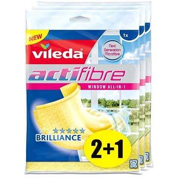 Hadřík VILEDA Actifibre mikrohadřík na okna 3x1 ks (8594045881547)