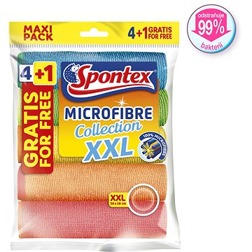SPONTEX Microfibre Economic XXL 38 × 40 cm (5 ks) (3384121218047)