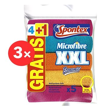 SPONTEX Microfibre Economic XXL 38 × 40 cm (15 ks)