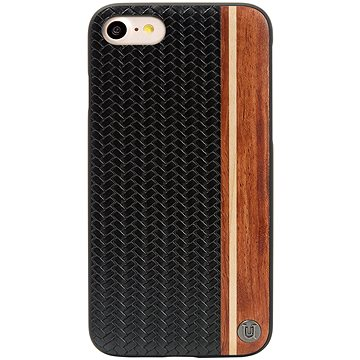 Uunique kryt Micro Weave Design iPhone 7/8 Black (UUFMIP7HS007)