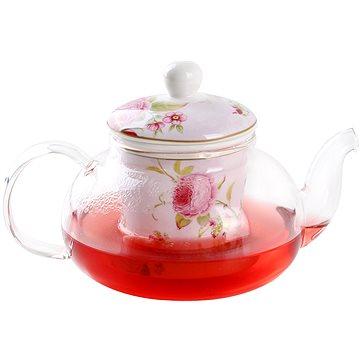 UTC Konvice na čaj s filtrem 0,6L sklo/porcelán (KS43927)