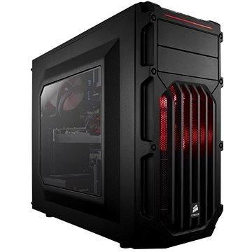 Corsair SPEC-03 Red LED Carbide Series černá s průhlednou bočnicí (CC-9011052-WW)