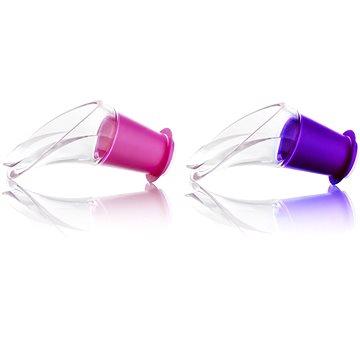 VacuVin Nálevka na víno fialová, růžová set 2ks (18541612)