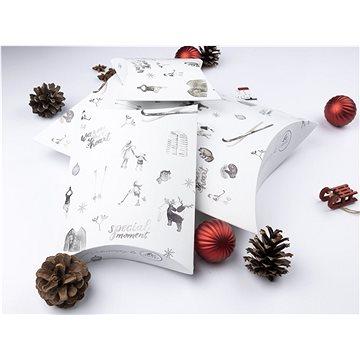 Be Nice Přírodní vánoční krabičky na balení - světlé (3 ks) (KPRS)