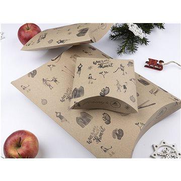 Be Nice Přírodní vánoční krabičky na balení dárků - hnědé (3 ks) (KPRH)