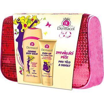 Dárková sada kosmetická DERMACOL Enja Zpevňující řada na tělo - kosmetická taška (8590031101200)