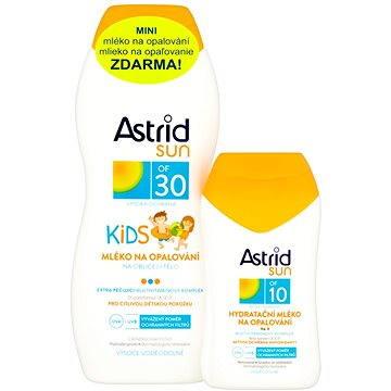 Sada ASTRID SUN Dětské mléko na opalování SPF 30 200 ml + Hydratační mléko na opalování SPF 10 100 ml (8592297001430) + ZDARMA Dárek Astrid mléko na opalování OF 10 100ml