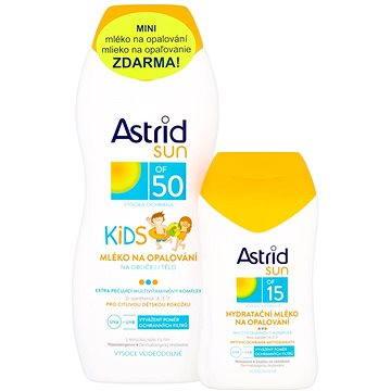 Sada ASTRID SUN Dětské mléko na opalování SPF 50 200 ml + Hydratační mléko na opalování SPF 15 100 ml (8592297001447)