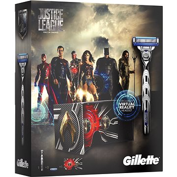 Dárková sada GILLETTE Mach3 Turbo JUSTICE LEAGUE kazeta (7702018442706)