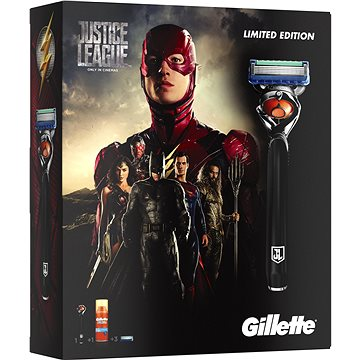 Dárková sada GILLETTE Fusion Proglide Flexball JUSTICE LEAGUE Flash kazeta (7702018455263)