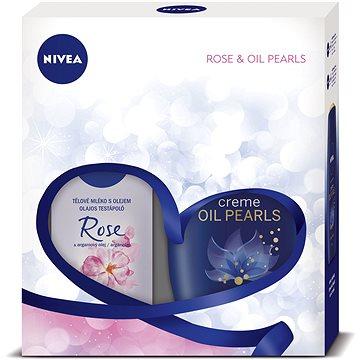 Dárková sada NIVEA Body ROSE dárkové balení plné péče s vůní růže a květů ylang ylang (9005800292359)