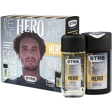 Dárková sada STR8 Hero kazeta (8592297003205) + ZDARMA Toaletní voda B.U. MY SECRET 1,2 ml