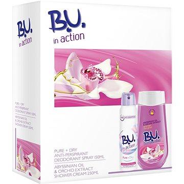 Dárková sada B.U. In Action Pure and Dry kazeta (8592297003366) + ZDARMA Toaletní voda B.U. MY SECRET 1,2 ml