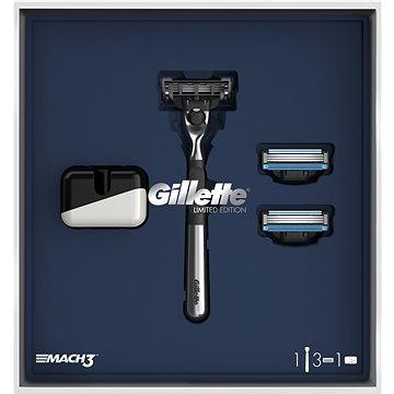 GILLETTE Mach3 Set + Stojan + 2× Holící Hlavice (7702018480555)
