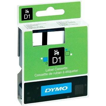 Páska do štítkovače Dymo D1, S0720780, 6mm, bílá/černá (774730)