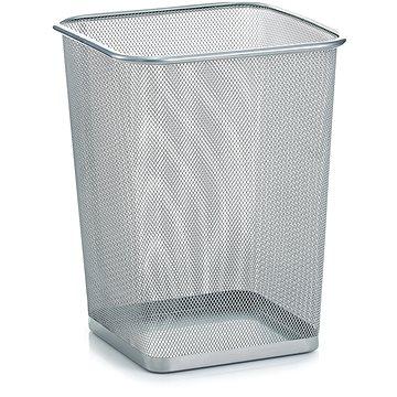 Odpadkový koš VICTORIA stříbrný - na papír (L3335S)