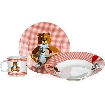 BANQUET Dětská 3 dílná sada Medvídci RED A11867 (A11867)