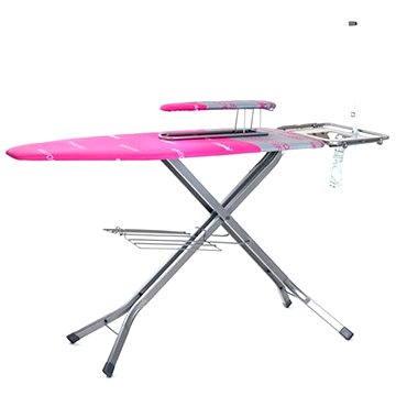 Žehlicí prkno BRILANZ Professional 130x48 cm, růžové A04185