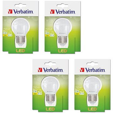 Verbatim 3.1W LED E27 2700K set 4ks (52640-4ks)