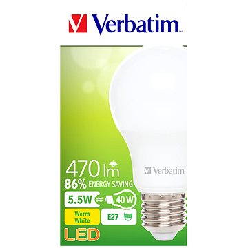 Verbatim 5.5W LED E27 2700K (52631)