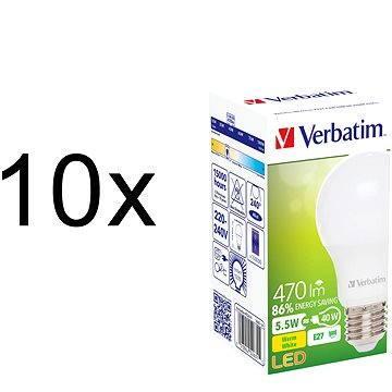 Verbatim 5.5W LED E27 470lm set 10ks (52631-10ks)