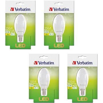 Verbatim 4.5W LED E14 2700K set 4ks (52637-4ks)