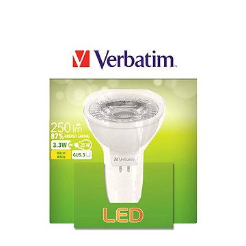 Verbatim 3.3W LED GU5.3 2700K (52645) + ZDARMA LED žárovka Osram LED Value Spot 5W GU5.3