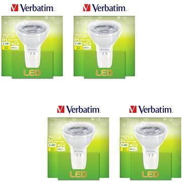 Verbatim 3.3W LED GU5.3 2700K set 4ks (52645-4ks)