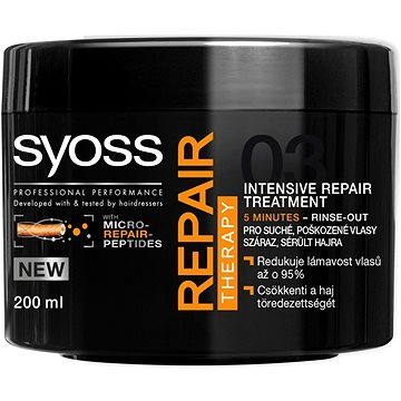 Syoss Repair Therapy vlasová maska suché, poškozené vlasy 200 ml