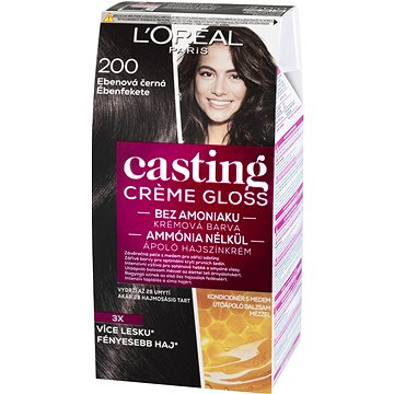 Barva na vlasy LORÉAL CASTING Creme Gloss 200 Ebenová černá (3600521334720)