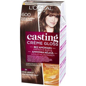 Barva na vlasy LORÉAL CASTING Creme Gloss 600 Světlý kaštan (3600521334850)