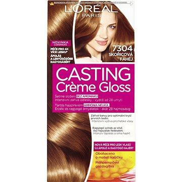 Barva na vlasy LORÉAL CASTING Creme Gloss 7304 Skořicová (3600522670056)