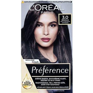 Barva na vlasy LORÉAL PARIS Récital Préférence Brasilia 3/B tmavá hnědá (3600010012863)