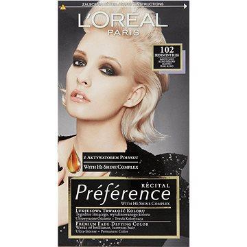Barva na vlasy LORÉAL PARIS Féria Préférence 102 velmi velmi světlá blond duhová (3600521434772)