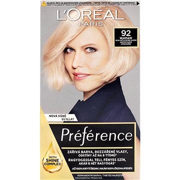 Barva na vlasy LORÉAL PARIS Féria Préférence 92 velmi světlá blond duhová (3600521434765)