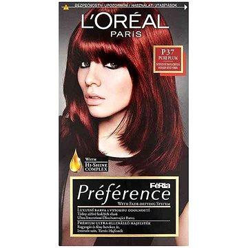 Barva na vlasy LORÉAL PARIS Féria Préférence Pure Plum P37 intenzivní tmavá červená (3600521434703)