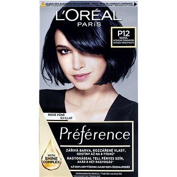 Barva na vlasy LORÉAL PARIS Préférence Blue Black Pearl P12 intenzivní černomodrá (3600522707103)