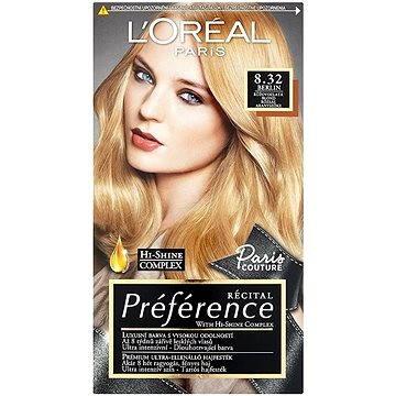 Barva na vlasy LORÉAL PARIS Préférence Paris Couture Berlin 8.32 růžovozlatá blond (3600520796635)