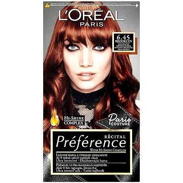 Barva na vlasy LORÉAL PARIS Préférence Paris Couture Brooklyn 6.45 intenzivní měděná hnědá (3600522483588)