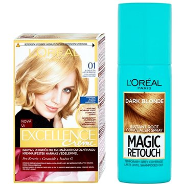 Sada LORÉAL PARIS Excellence Creme 01 + Magic Retouch 5
