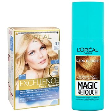 Sada LORÉAL PARIS Excellence Creme 04 + Magic Retouch 5