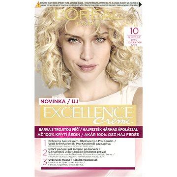 Barva na vlasy LORÉAL PARIS Excellence Creme 10 Nejsvětlejší blond (3600523006328)