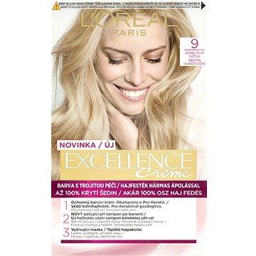 Barva na vlasy LORÉAL PARIS Excellence Creme 9 Blond velmi světlá (3600520616735)
