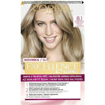Barva na vlasy LORÉAL PARIS Excellence Creme 8.1 Blond světlá popelavá (3600520616711)