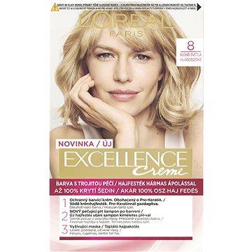 Barva na vlasy LORÉAL PARIS Excellence Creme 8 Blond světlá (3600523231935)