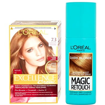 Sada LORÉAL PARIS Excellence Creme 7.3 + Magic Retouch 5